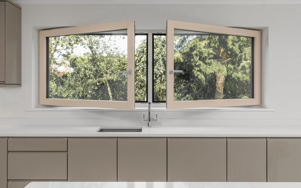 Bespoke inward opening kitchen window