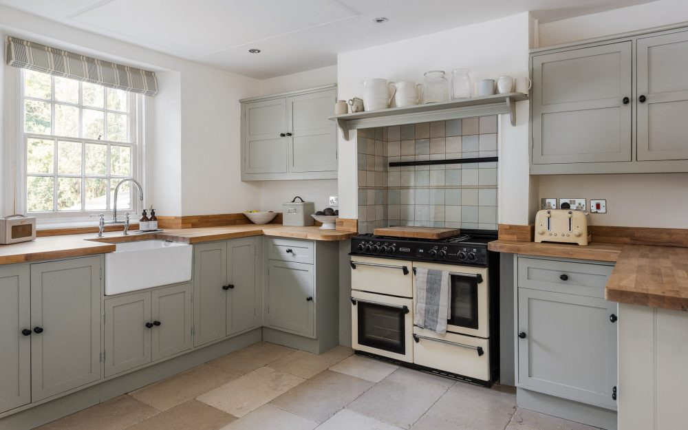 Neutral shaker style country kitchen