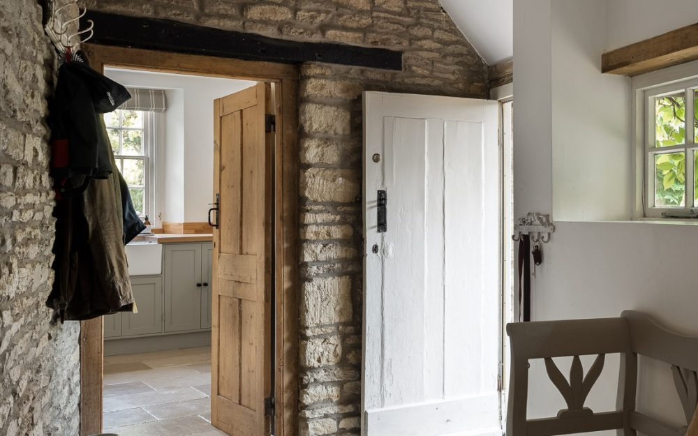 Country home-boot room leading to kitchen