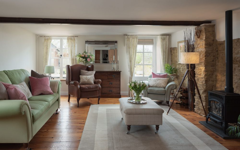 Interior photography of country home